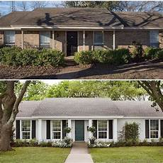 before and after curb appeal with images brick