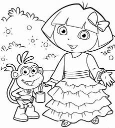 Dora Coloring Pages Dora Christmas Coloring Pages 12 Printable Coloring Sheets