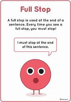 Period Punctuation Full Stop Period Punctuation Poster K 3 Teacher Resources