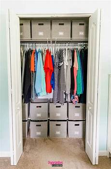 Closet Ideas For Small Bedrooms Organizing A Small Bedroom Closet Organization Obsessed