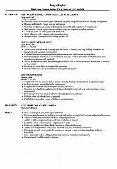 Hostess Job Description Resumes Restaurant Resume Sample Templatescoverletters Com