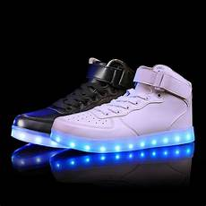 Nike With Light Shoes 2017 New Kids Boys Girls Usb Charger Led Light Shoes High