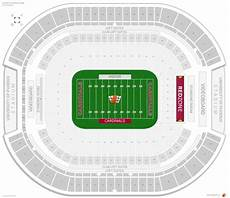 Cardinals Football Stadium Seating Chart Arizona Cardinals Stadium University Of Phoenix Stadium