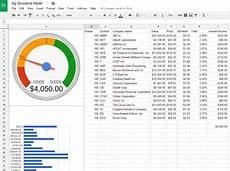 Investment Tracking Spreadsheet How To Create A Dividend Tracker Spreadsheet Dividend Meter