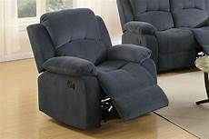 poundex f6783 grey fabric rocker recliner chair a