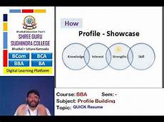Resume Building Tools Bba Quick Resume Building Tool Youtube
