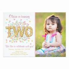 Second Birthday Party Invitations Second Birthday Invitation Girl Pink Gold Mint Two