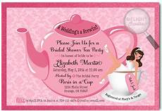 Tea Party Bridal Shower Thank You Cards Di 1510ty