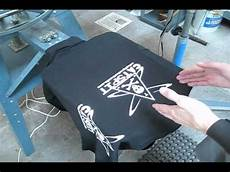 How To Make A Black Light Shirt How To Screen Print White Ink On Black Tee Shirts Youtube