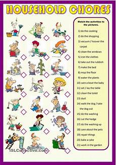 List Of House Chores Household Chores Learning English For Kids Household