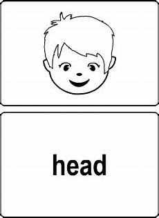 Body Vocabulary For Kids Learning English Printable