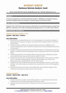 Business System Analyst Resume Business System Analyst Resume Samples Qwikresume