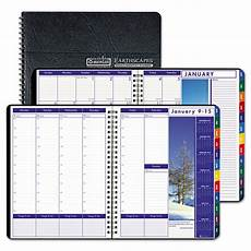 Weekly Monthly Planners House Of Doolittle Earthscapes Weekly Monthly Planner 8 5