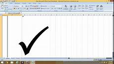 Tick Sheet Excel How To Insert Check Mark Symbol In Excel Youtube