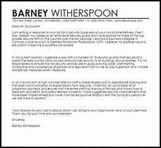 Cover Letter Example For Supervisor Position Security Supervisor Cover Letter Sample Cover Letter