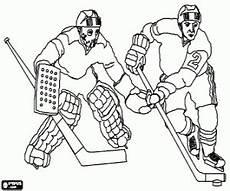 ausmalbilder eishockey torwart und spieler zum ausdrucken