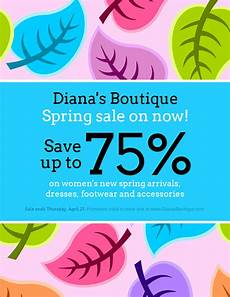 Promotional Flyer Ideas Colorful Spring Clothing Sales Flyer Idea Venngage Flyer