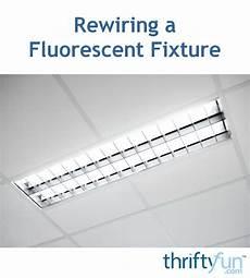 How To Rewire A Fluorescent Light Rewiring A Fluorescent Fixture Thriftyfun