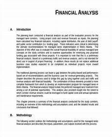financial analysis example project financial feasibility