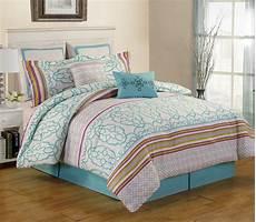 8 arvada teal comforter set