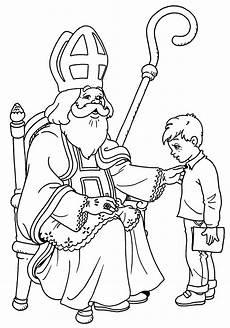 Kostenlose Malvorlagen Nikolaus Sankt Nikolaus Malvorlagen