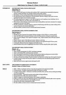 Resume Samples For Government Jobs Government Relations Resume Samples Velvet Jobs