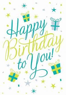 Happy Birthday Cards To Print Free Happy Birthday To You Birthday Card Free Greetings