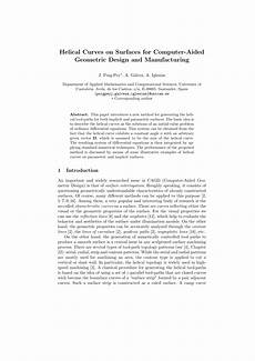 And Surfaces For Computer Aided Geometric Design Pdf Helical On Surfaces For Computer Aided