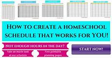 Create A Schedule Homeschool Schedule How To Create One That Works