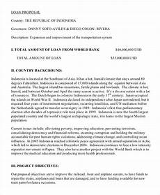 Project Profile Format For Bank Loan 6 Loan Proposal Templates In Pdf Ms Word Pages