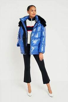 Light Blue Puffer Jacket Urban Outfitters Light Before Dark Borg Lined Look Puffer Jacket