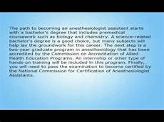 How To Become An Anesthesiologist Assistant How To Become An Anesthesiologist Assistant Youtube