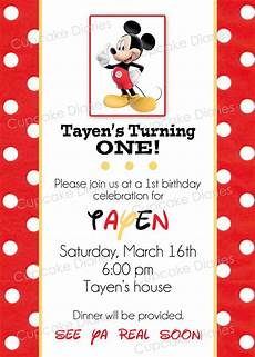 Mickey Mouse Party Invitations Free Simple Mickey Mouse Birthday Party Free Subway Art