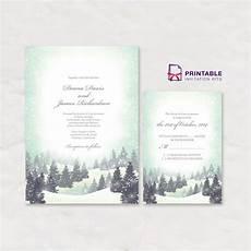 Winter Wedding Invitation Templates Winter Wonderland Wedding Invitation And Rsvp Templates