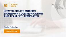 Site Template Sharepoint How To Create Modern Sharepoint Communication And Team