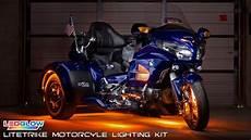Led Light Kits For Motorcycles Ledglow Litetrike Motorcycle Lighting Kit Youtube