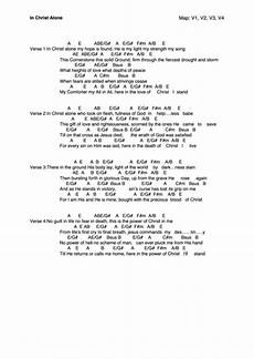 The Light Of Christ Chords In Christ Alone Chords And Lyrics Sheet Music Printable