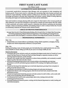 Auto Dealership Sales Manager Resume Automotive Sales Manager Resume Template Premium Resume