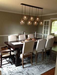 Glass Pendant Lights Over Dining Table Dining Room Remodel Restoration Hardware 20th C Factory