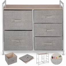 vevor fabric 5 drawer storage tower organizer grey