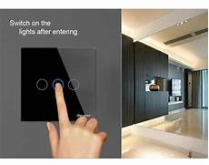 Touch Wall Light Panels Sesoo 1 2 3gang Touch Light Wall Switch Glass Panel Led