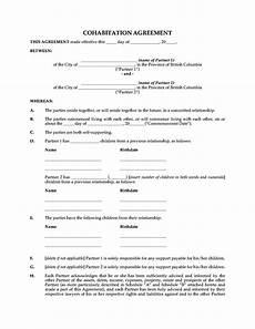 Cohabitation Agreement Sample Free Cohabitation Agreement Template Sampletemplatess