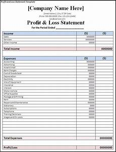 Examples Of Profit And Loss Profit And Loss Template Strong Illustration Templates