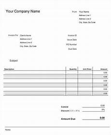 Simple Free Samples 8 Small Business Invoice Templates Free Sample Example