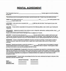 Free Download Rental Agreement Free 6 Rental Lease Agreement Templates In Ms Words