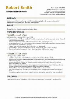 Research Intern Resume Market Research Intern Resume Samples Qwikresume