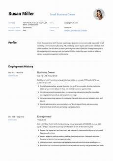 Business Resume Samples Small Business Owner Resume Guide 12 Examples Pdf 2019
