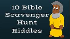 Bible Riddles 10 Free Bible Scavenger Hunt Riddles To Download And Print