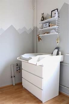 babyzimmer wandgestaltung farbe mountain nursery wallpaint wandgestaltung im babyzimmer