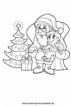 nikolaus und christbaum weihnachten ausmalen